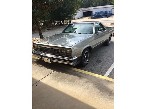 1984 CHEVY EL CAMINO great shape 6800 obo for color photo search ad 278309  wwwiwantanet