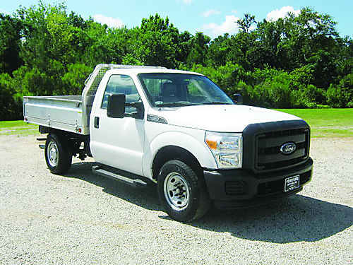 2012 FORD F250 XL Reg Cab 9ft Aluminum Flatbed 62 V8 66k Miles Auto AC Hitch One Owner Ver