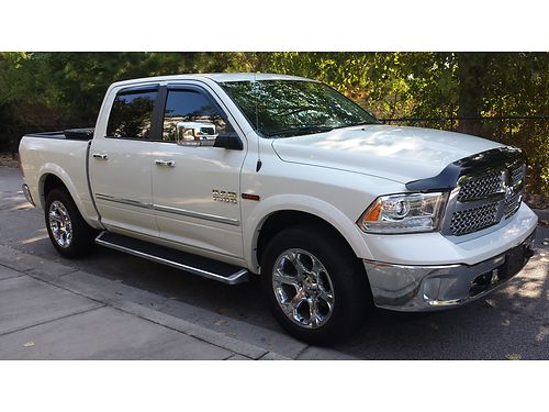 2016 DODGE RAM 1500 crew cab eco diesel 35k miles bluetooth navigation heated  cooled seats with