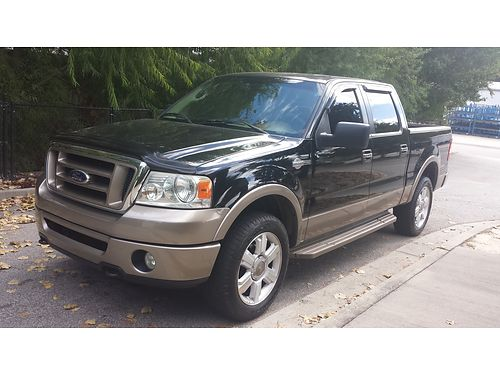 2006 FORD F150 4x4 king ranch black tan leather running boards like new 164k miles 13900 obo