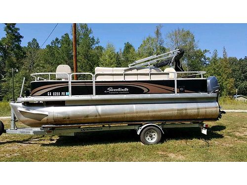 2014 SWEETWATER PONTOON 20 90hp 4stroke gc low hours helix 9si  helix 7di sonar ipilot 24v tro