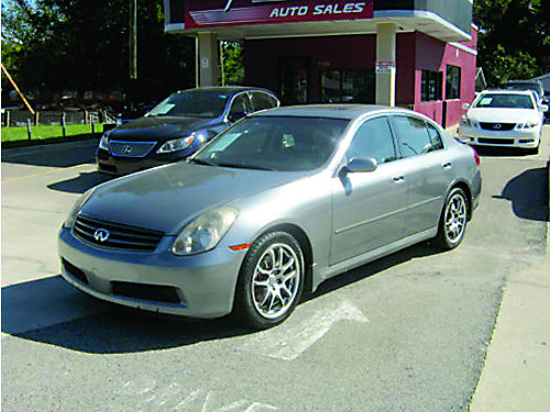 2005 INFINITI G35 4dr Auto Grey V6 Leather 8700 800-805-7984