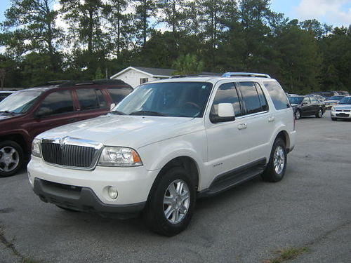 2004 LINCOLN AVIATOR 4dr Auto Leather 3rd Row White 5890 706-922-6030