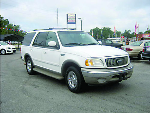 2001 FORD EXPEDITION 4dr Auto Leather 3rd Row White 4995 Call 888-640-5901