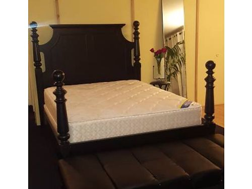 BED 4 poster bed brand new queen size includes brand new serta mattress and boxspring 525