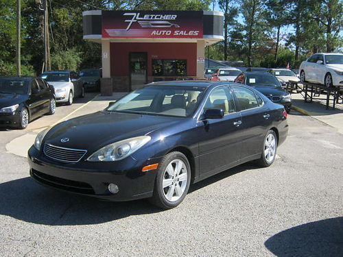 2005 LEXUS ES330 4dr Auto Dark Blue Tan Leather Sunroof Auto 8000 800-805-7984