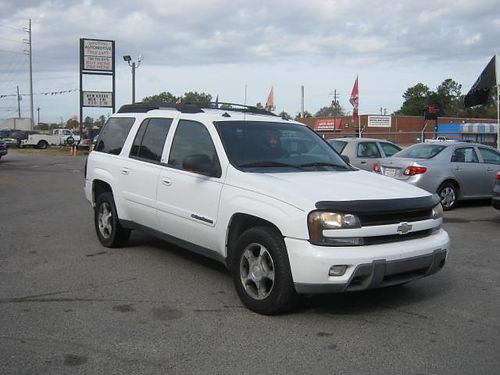 2004 CHEVROLET TRAILBLAZER 4Dr Auto White 3rd Row Leather 8995 888-640-5901