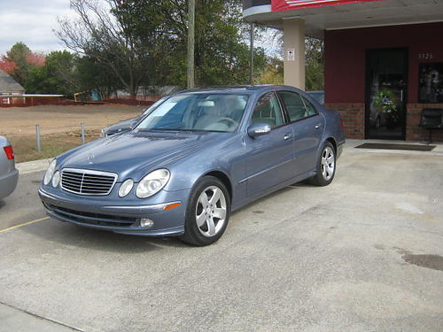 2003 MERCEDES E500 Blue 4dr Auto Leather 2 Owner 4000 Cash 800-805-7984