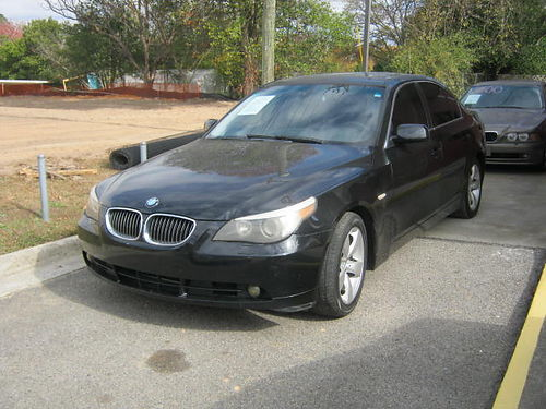 2007 BMW 530I 4dr Auto Black Leather Sunroof 8000 800-805-7984