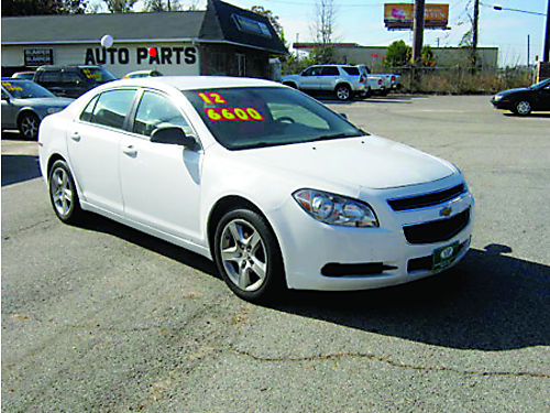 2012 CHEVROLET MALIBU 4dr Auto White Clean Loaded 6600 803-386-1477