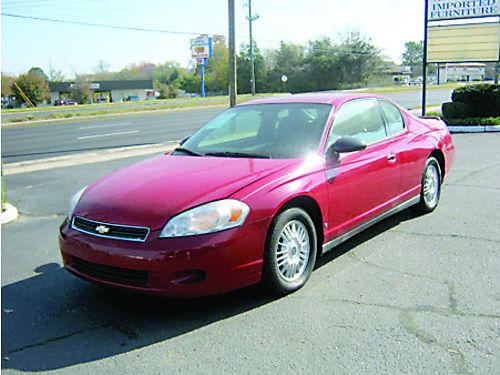 2007 CHEVROLET MONTE CARLO LS Red 2dr 24 Month Financing 6800 800-805-7984