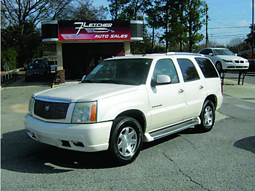 2004 CADILLAC ESCALADE 4dr Auto White 3rd Row Tan Leather 7900 800-805-7984