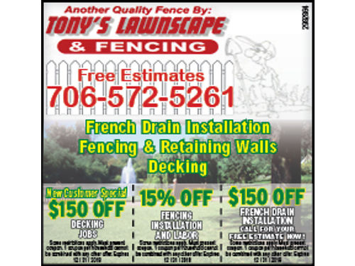 Tonys Lawnscape  Fencing Year-Round Service Free Estimates Over 15yrs Experience in Residential