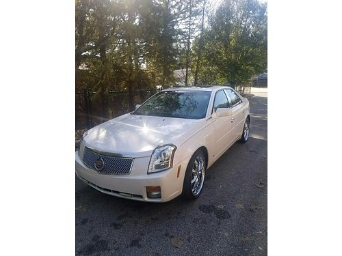 2006 CADILLAC CTS 36 liter engine 93k miles cold air moon roof white diamond in color automati