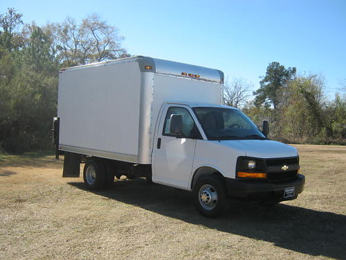 2012 CHEVY 3500 12ft Box Van with Tommy Lift Gate 88k Miles v8 E- Trac System Ready to Work for