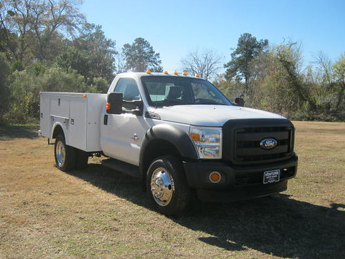 2011 FORD F550 XL Dually Diesel Knapheide Service Truck All Power Tow Pkg One Owner Built to W