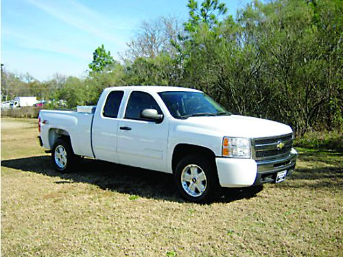 2010 CHEVY 1500 SILVERADO LT Z71 4x4 Ext Cab All Power Onstar Sirius Extra Sweet Only 16500