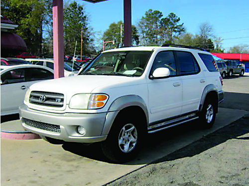 2002 TOYOTA SEQUOIA 4dr Auto V8 3rd Row Tan Leather 3500 Cash 800-805-7984