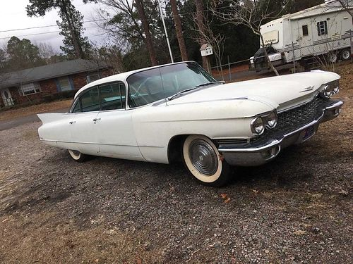 1960 CADILLAC SEVILLE all orignial gc white in color with wine interior 14500 706-231-1087 for