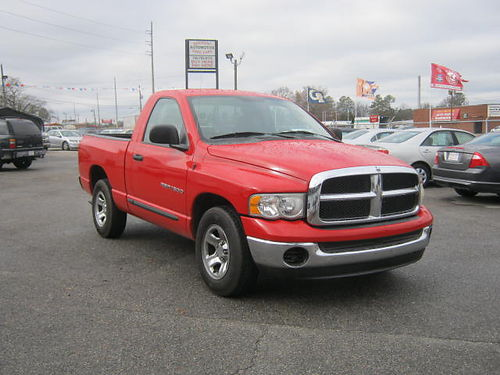 2005 DODGE RAM 1500 Red v6 8995 888-640-5901