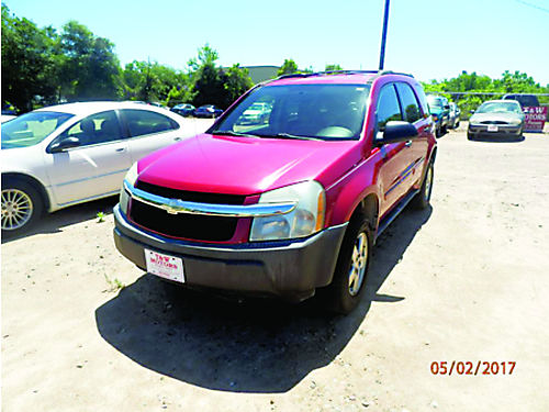 2005 CHEVROLET EQUINOX 4dr Auto Red 4995 855-830-1721
