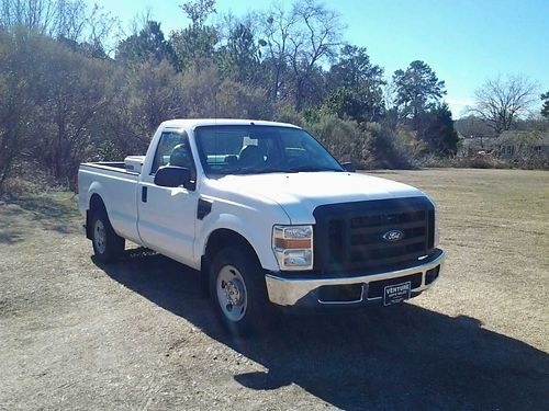 2008 FORD F250 XL 2dr Reg Cab Longbed 54 v8 127k Miles Auto AC Cd Toolbox Spray-in Liner