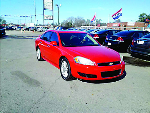 2013 CHEVROLET IMPALA LTZ 4dr Auto Red Leather 10995 888-640-5901