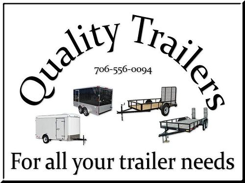 Quality Trailers Lark Enclosed Trailers - 5x8 SA V-Nose Ramp Door - 6x12 SA V-Nose Ramp Door Side Do