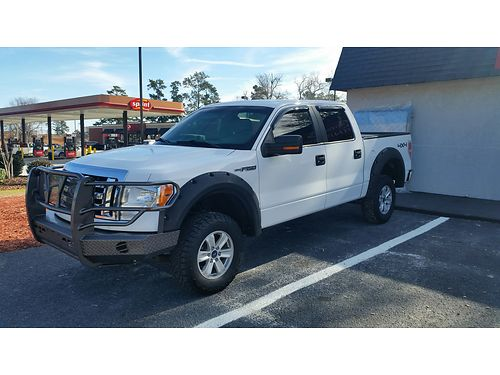 2012 FORD F150 XLT 4x4 1 owner white exterior black and grey interior new tires 167k miles well