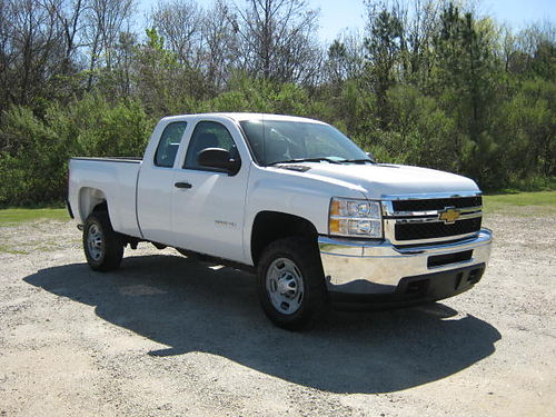 2013 CHEVY 2500 HD SILVERADO 4dr Ext Cab 60 v8 All Power Shortbed Spray-in Liner Tow Pkg On