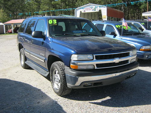 2003 CHEVY TAHOE 4dr Auto Call 803-663-4319
