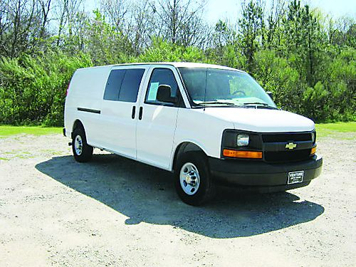 2012 CHEVY 3500 EXPRESS EXTENDED CARGO VAN 60 v8 116k Miles All Power Bulkhead Interior Shelves