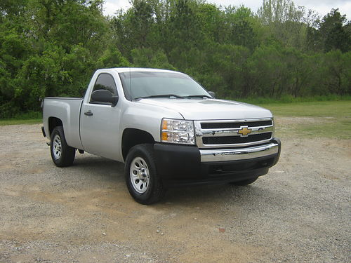 2012 CHEVY 1500 SILVERADO 4x4 Reg Cab Shortbed Silver v8 Power Lock Spray-in Liner Extra Sha
