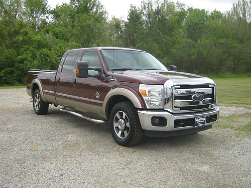 2013 FORD F250 LARIAT Crew Cab 67 Diesel Leather All Kinds Of Options Bedcover Alloys Burgund