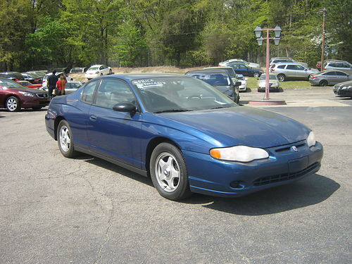 2005 CHEVY MONTE CARLO LS Low Miles Rare Kind 6900 800-805-7984