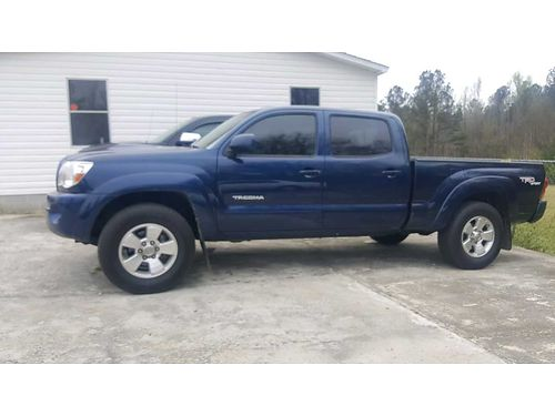 2008 TOYOTA TACOMA crew max sports trd package 127k miles prerunner sr5 blue in color vgc 165