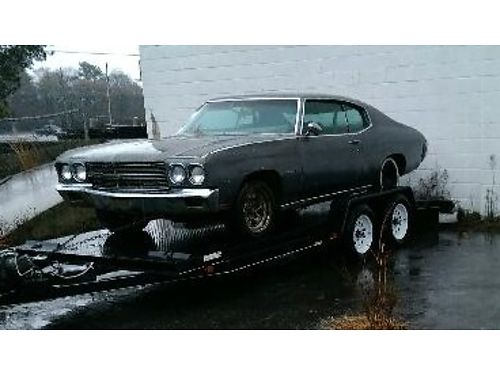 1970 CHEVY CHEVELLE VGC Complete Needs Restoring Small Block Motor Auto AC 3500 706-664-1496