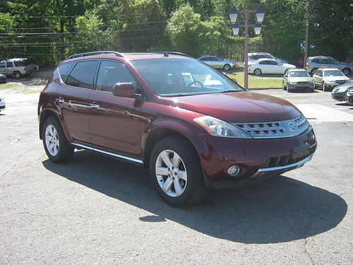 2006 NISSAN MURANO 4dr Auto Maroon 4x4 Leather Panoramic Roof 8400 800-805-7984