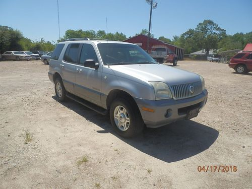 2002 MERCURY MOUNTAINEER 4dr Auto Silver 3rd Row 3995 855-830-1721
