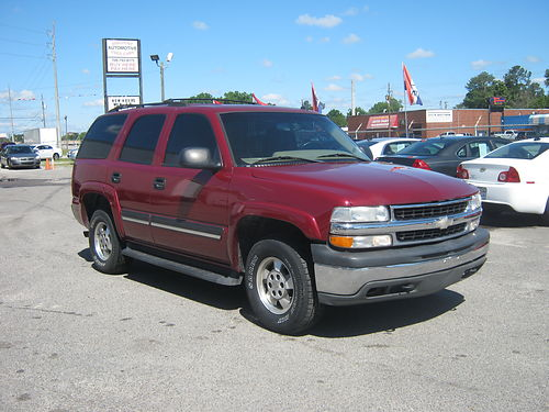 2005 CHEVY TAHOE 4dr Auto Burgundy Leather 8995 888-640-5901