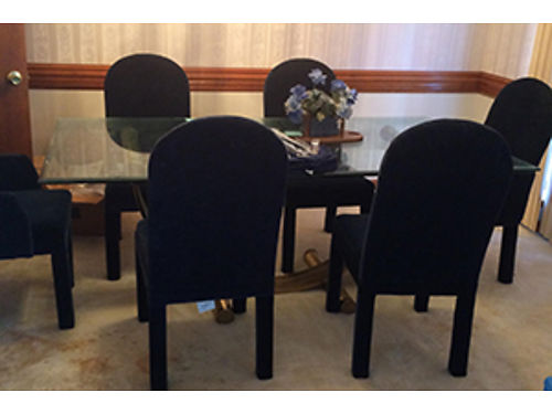 DININGROOM SET Formal Glasstop Table With 6 Chairs 240 For All For More  Photos Search 2989548