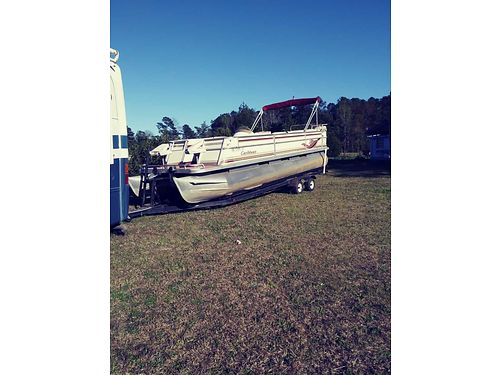 2000 CREST PONTOON 115hp evinrudem dual axle trailer one owner seats need recovering 9500 706-830