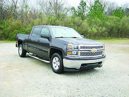2014 CHEVY 1500 SILVERADO LT 4dr Crew Cab Charcoal Grey Metallic All Power Onstar Extra Sharp