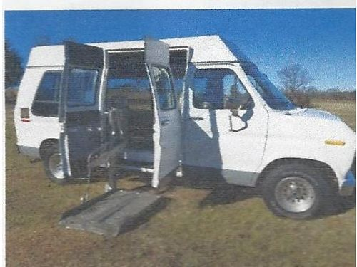 1991 FORD ECONOLINE electronic lift 155157miles PL PW 2wheelchair tiedowns full size van full