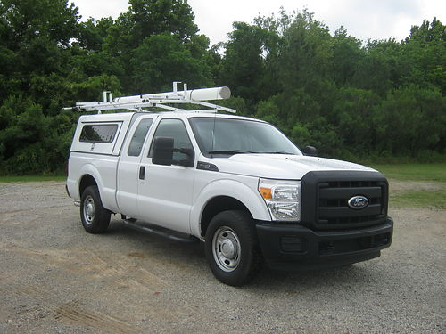 2011 FORD F250 XL 4dr Ext Cab Shortbed 62 v8 Nice Workmaster Top with Drop Down Ladder Rack I