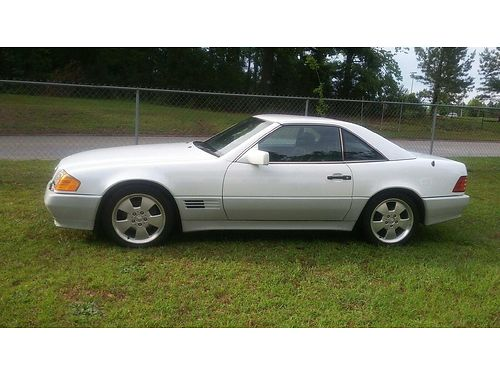 1992 MERCEDES 500SL convertible white 130k miles auto mint condition new paint interior in xc