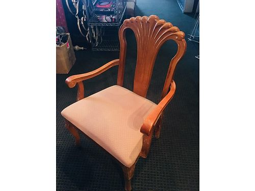 CHAIRS 49 armed chair by the famous Shelby Williams soild teak wood upholstered seat perfect fo