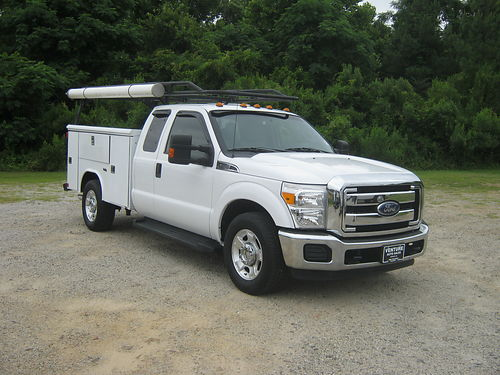 2014 FORD F350 XLT Ext Cab Reading Service Body Flip Top Cabinets Lots of Options Extremely Nic