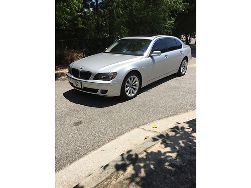 2008 BMW 750LI v8 6spd silver performance luxury car 62k clean carfax clear title all options