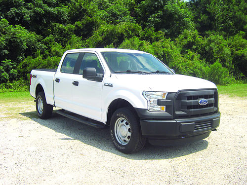 2015 FORD F150 XL 4x4 4Dr Crew Cab 50 v8 Auto AC Sync Aux Input All Power Spray-In Liner E